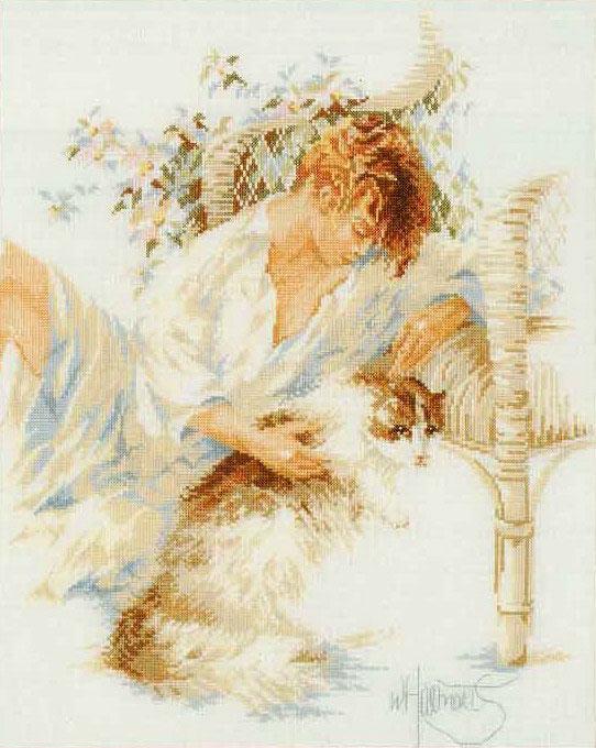 Lanarte 33831 - Girl with Cat